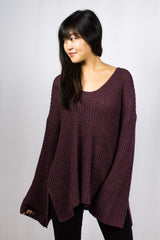 Naya Sweater in Wine