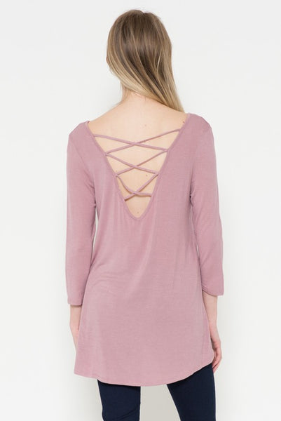 Mirage Criss Cross Backless Top