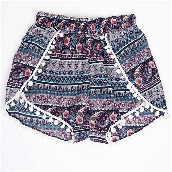 High Waist Pom Pom Shorts
