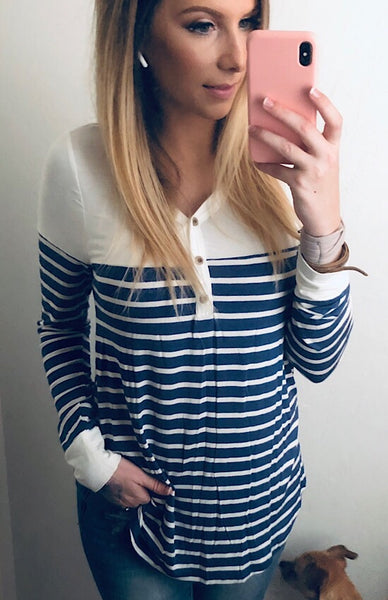 Cara Striped Blouse
