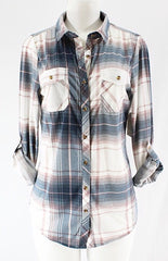 Slim Fit Flannel - White combo