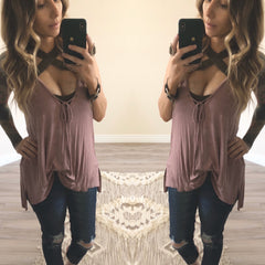 Mauve Twisted Tank