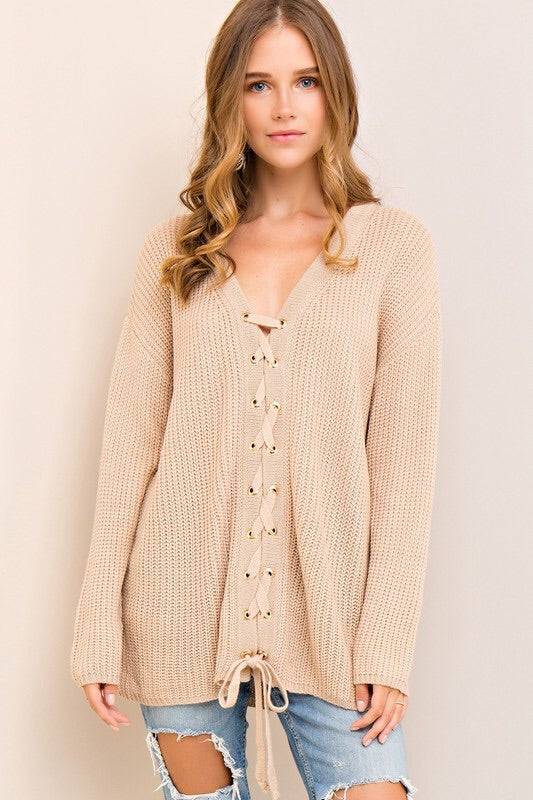 Maggie Sweater in Taupe