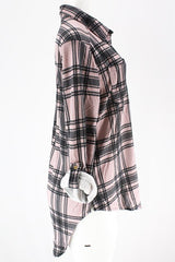 Mauve/Black Slim Fit Flannel
