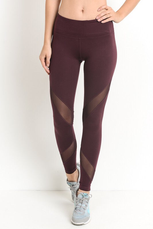 Elizabeth Leggings in Maroon