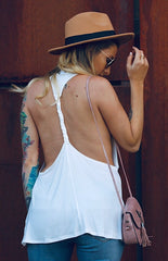 Backless Braided Blouse