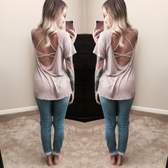 Backless Trinity Tee
