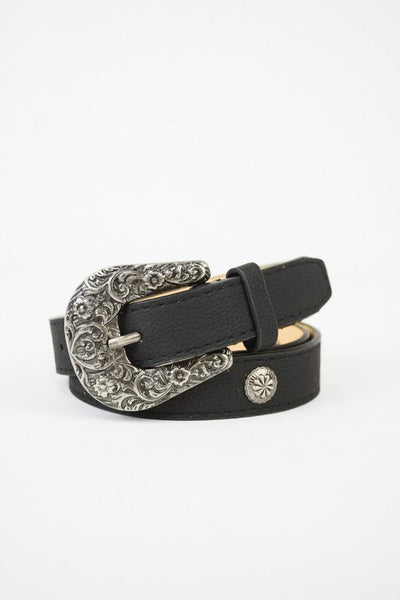 Black Medallion Belt