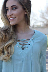 Serena Blouse in Sage