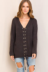 Maggie Sweater in Charcoal