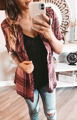 BLUSH/MAGENTA FLANNEL