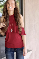 Lily Blouse in Maroon