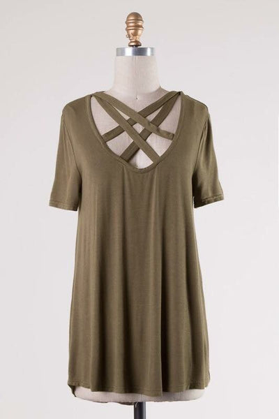 Michelle Blouse in Olive