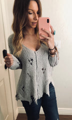Angela Distressed Sweater