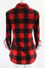 Kara Plaid Flannel in Red