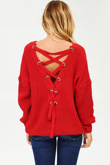 Athena Sweater in Red