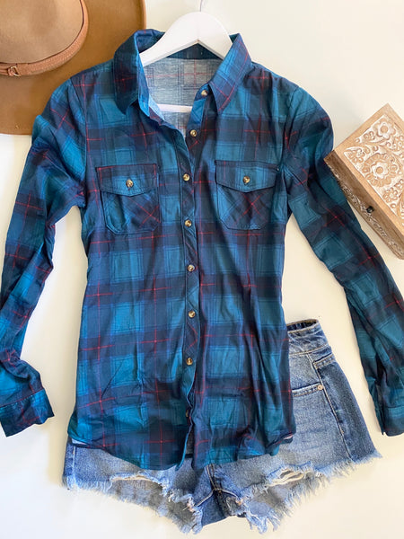 DEEP TEAL FLANNEL