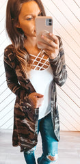 WHOLESALE CAMO CARDIGAN