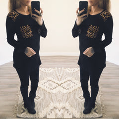 Leopard Pocket Blouse