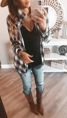 BLACK/WHITE FLANNEL