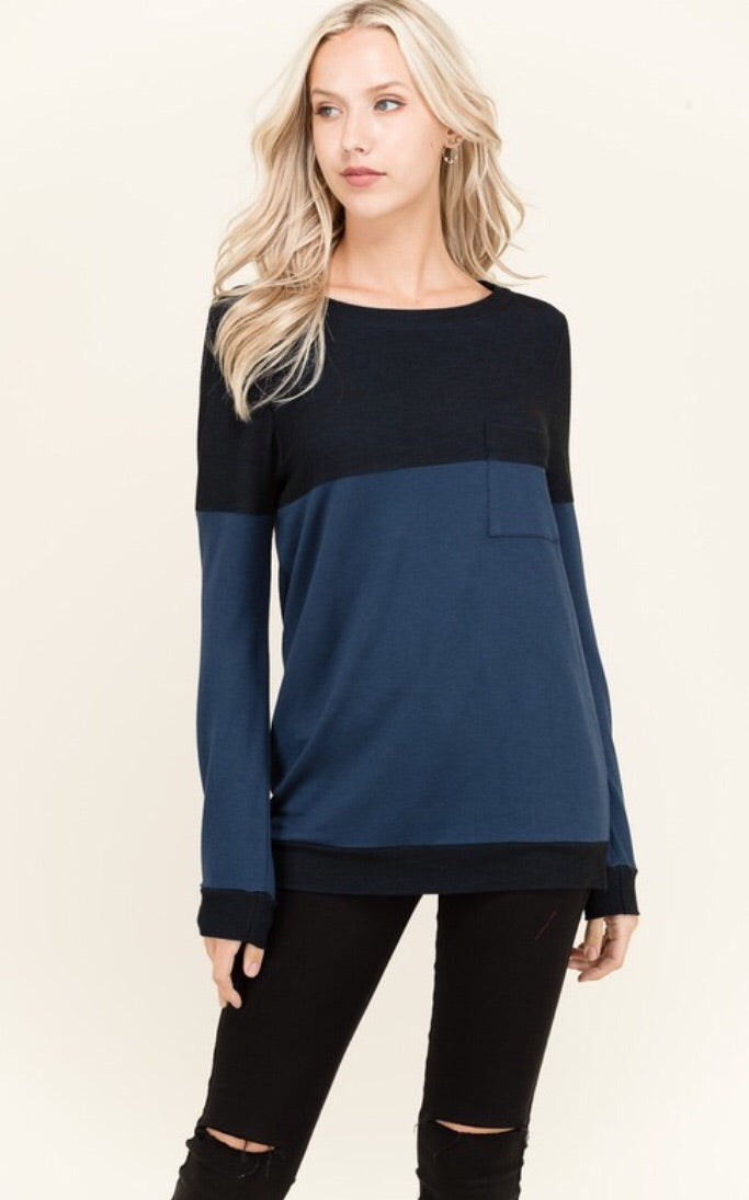 Tiffany Blouse in Navy