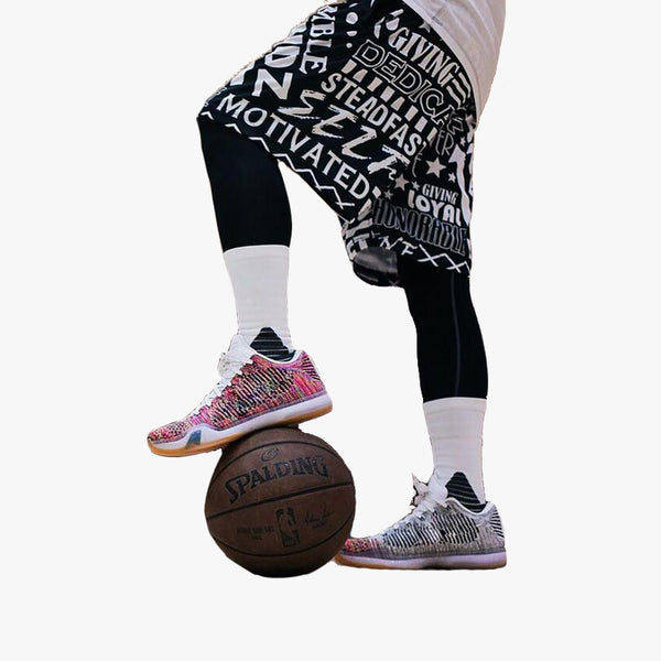 Black / White Character Basketball Shorts