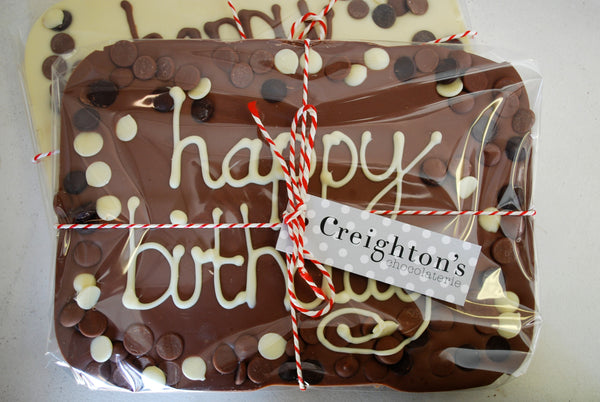 Milk Chocolate Happy Birthday Slab