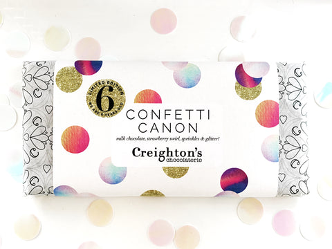 Confetti Canon Limited Edition Chocolate Bar
