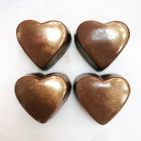 Box of Milk Chocolate Champagne Heart Truffles