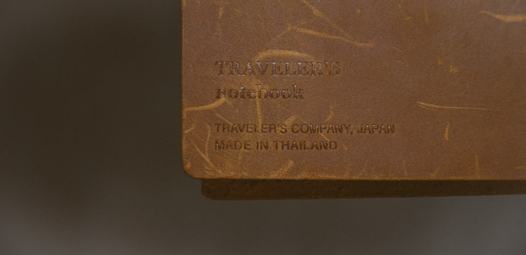 traveler's notebook hand made detail