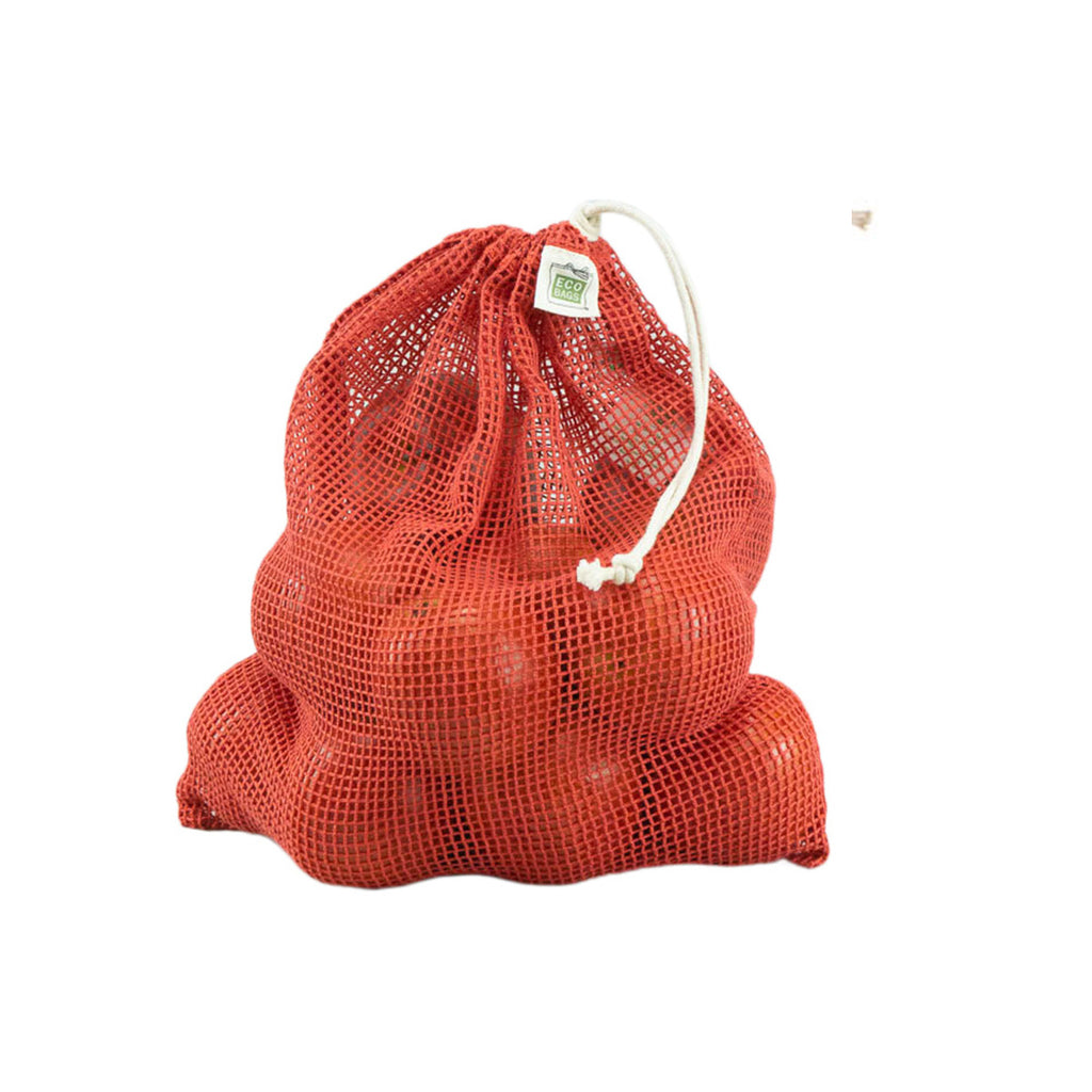Organic Net Drawstring Bag - Chili