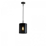 Brompton, Size 3 Anthracite Glass Pendant