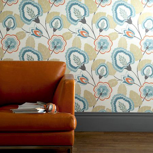 Orissa Wallpaper by Clarke & Clarke