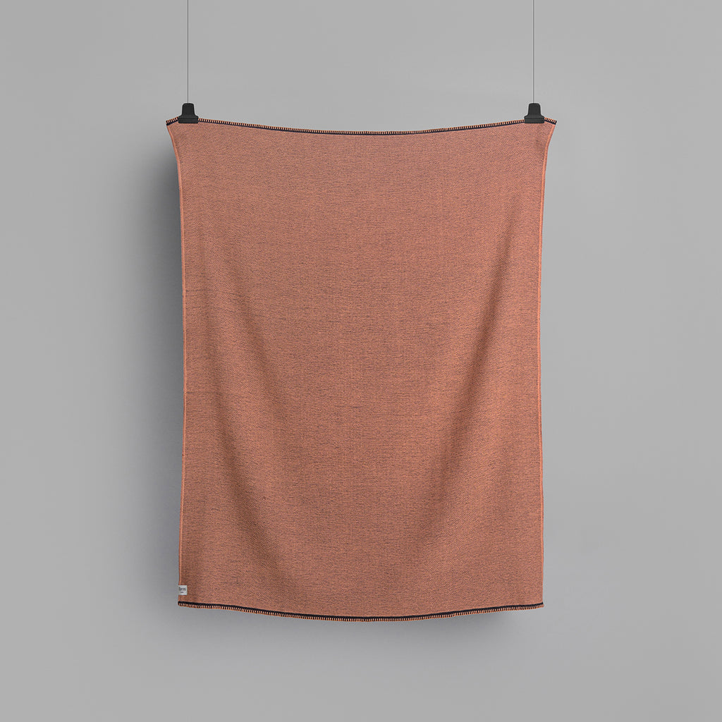 Roros Tweed Picnic Throw in Coral