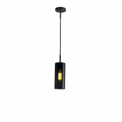 Brompton, Size 2 Anthracite Glass Pendant