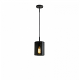 Brompton, Size 1 Anthracite Glass Pendant