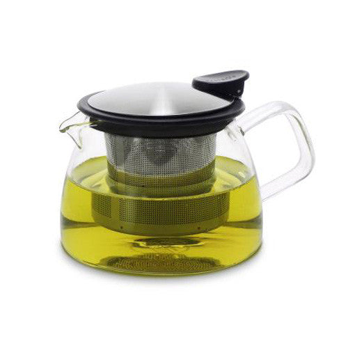 Forlife Bell Glass Teapot with Basket Infuser