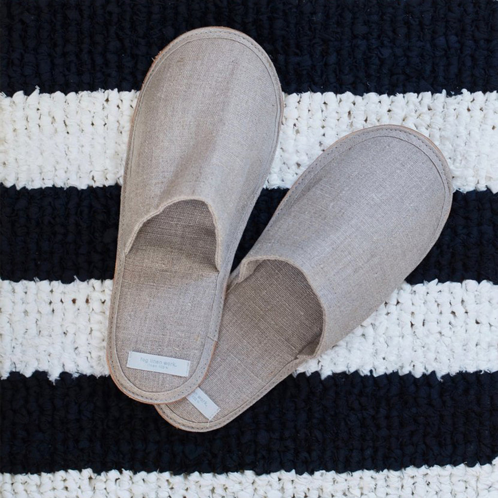 Fog Linen Slippers in Natural