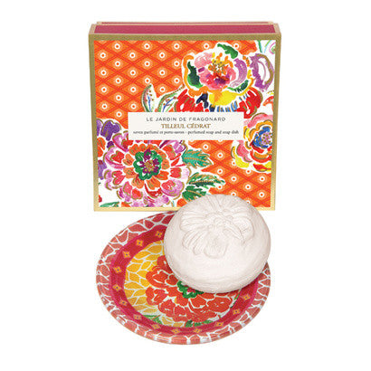Perfumed Soap and Soap Dish - Tilleul Cédrat