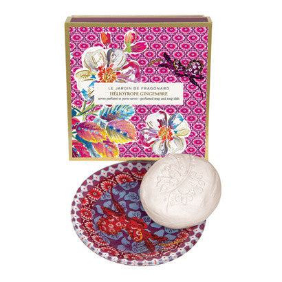 Perfumed Soap and Soap Dish - Héliotrope Gingembre
