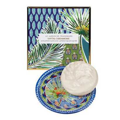 Perfumed Soap and Soap Dish - Santal Cardamome