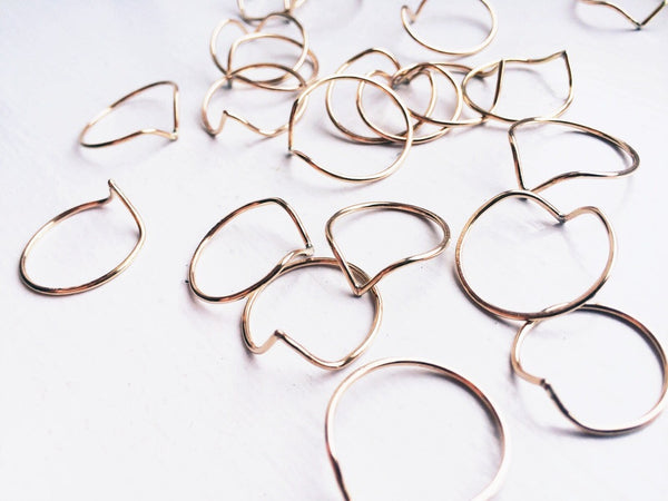 Foe & Dear Point Stacking Ring
