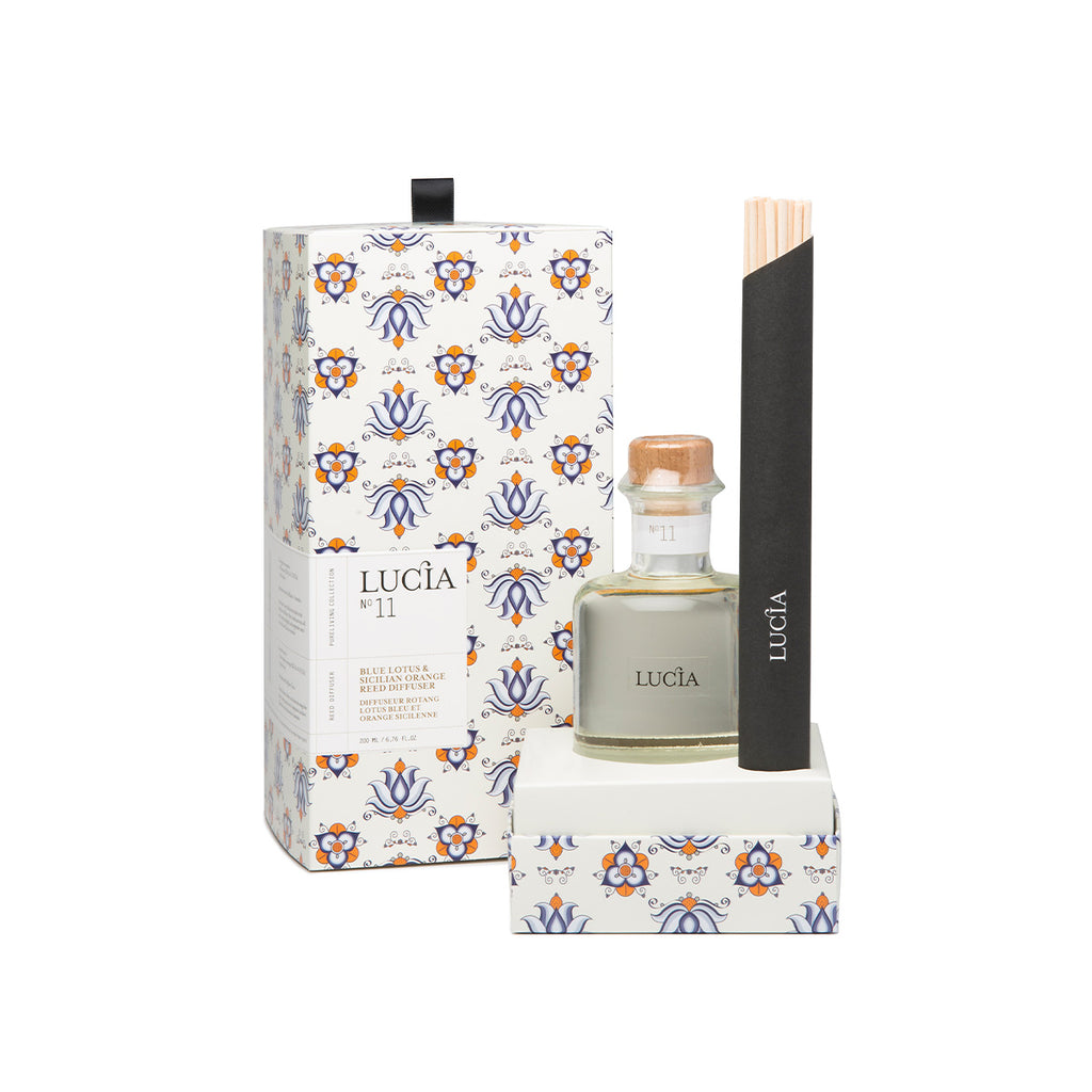 Reed Diffuser – Blue Lotus & Sicilian Orange