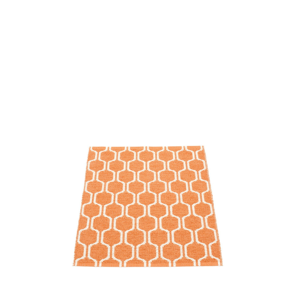 Pappelina Swedish Rug in Ants Pale Orange