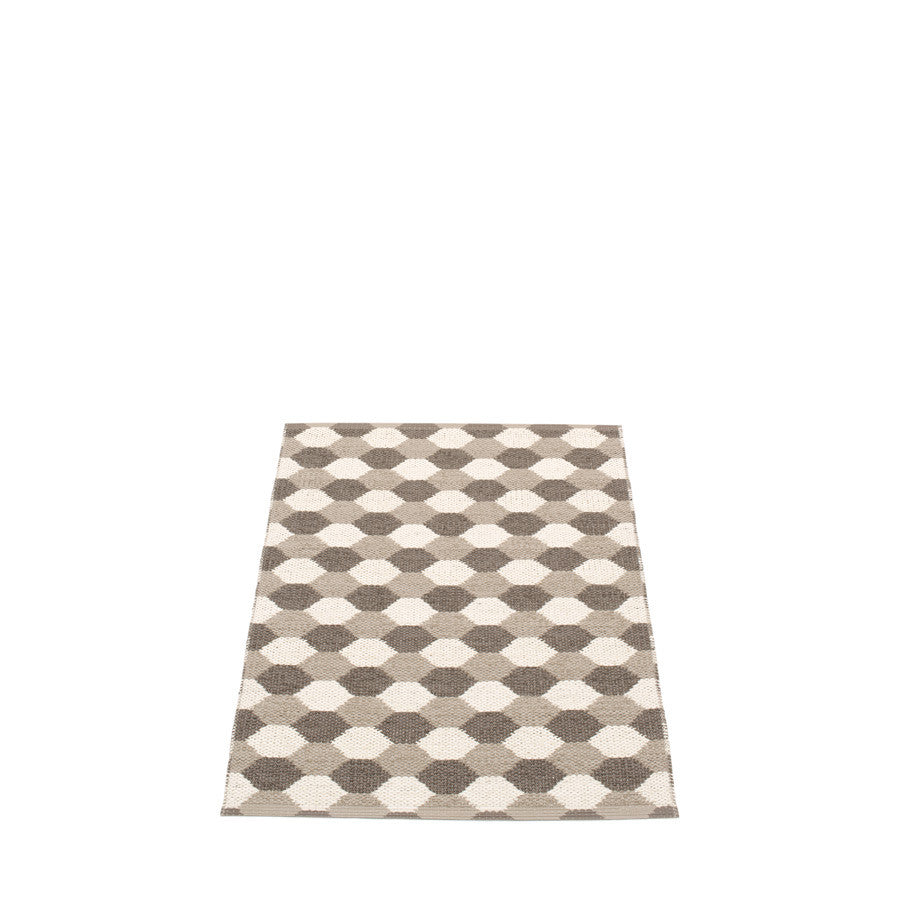 Pappelina Swedish Rug in Dana Dark Mud