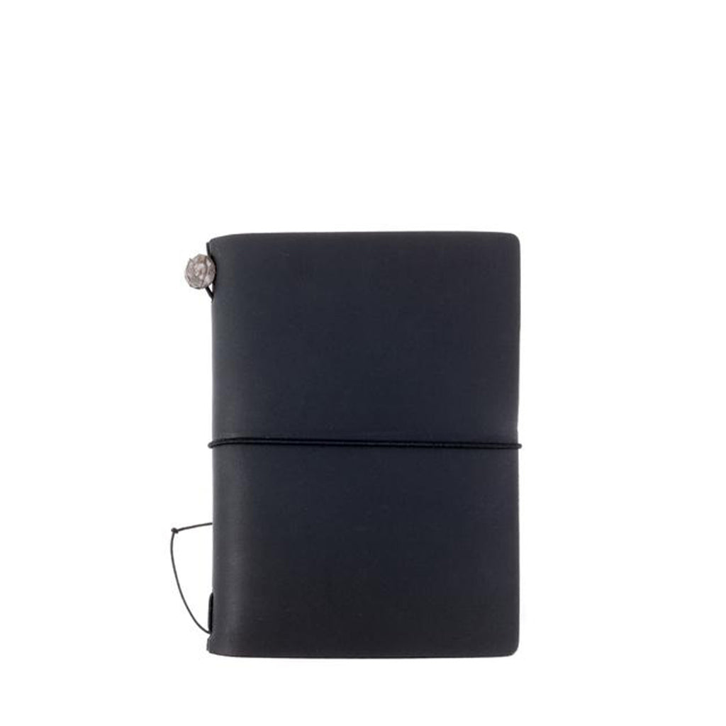 Midori Traveler's Notebook Passport Size Leather Cover in Black