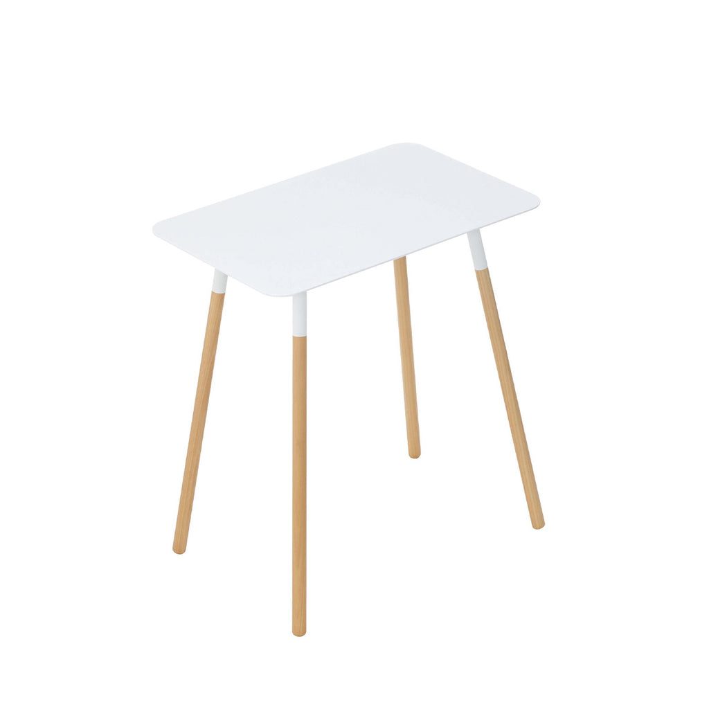 Yamazaki Plain Rectangular Side Table White