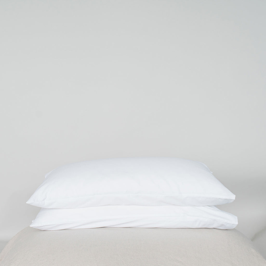 Organic Cotton Plain Pillowcase Set