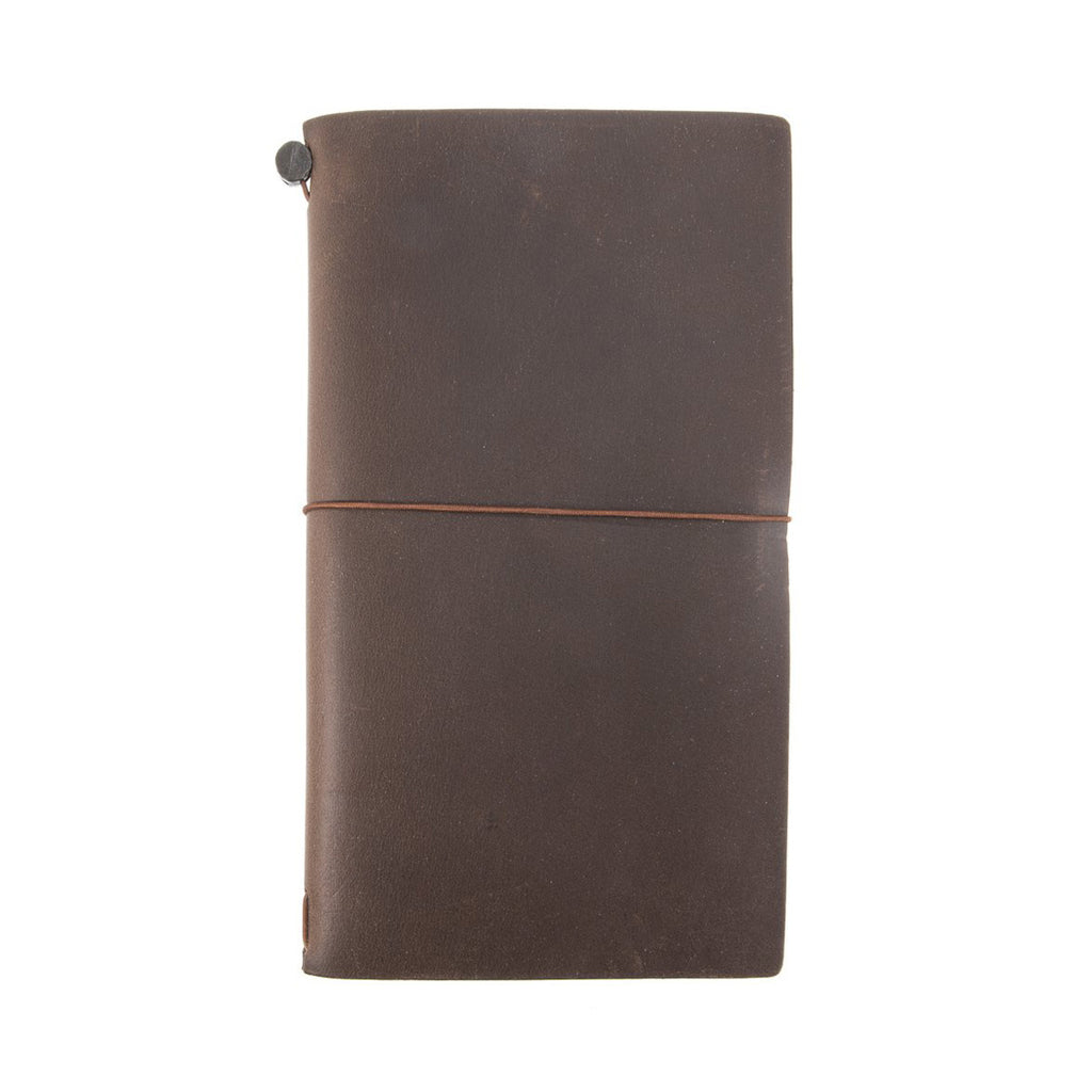 Midori Traveler's Notebook Regular Size Leather Cover in Brown