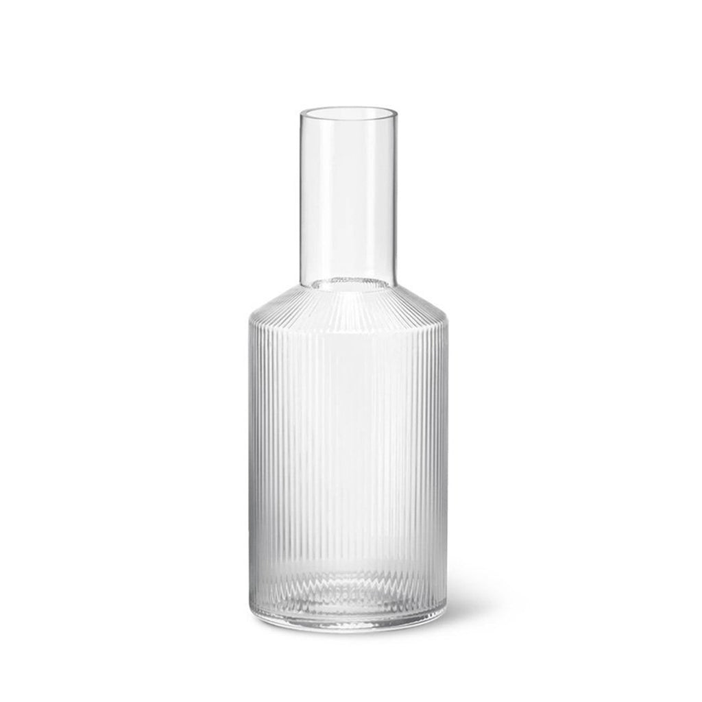 Ferm Living Ripple Carafe in Clear